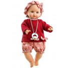 Paola Reina Zvuková bábika bábätko Sonia, 36cm červený svetrík a motýle