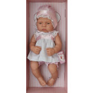 Asivil Realistické bábätko dievčatko Lucía, 42cm s ružovou mašľou