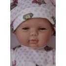 Berjuan Baby Smile bábika dievčatko, 30cm ružové bodky