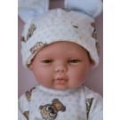 Berjuan Baby Smile bábika chlapček, 30cm modré bodky