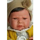 Antonio Juan Realistické bábätko Leo, 42cm chlapček s vláskami