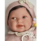 Antonio Juan Látková bábika bábätko Pipa, 40cm v ružovom