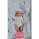 Antonio Juan Realistické bábätko Mufly Cojin Azul, 21cm chlapček na vankúši