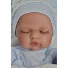 Antonio Juan Realistické bábätko Luni Manta, 26cm chlapček spiaci na bielej deke