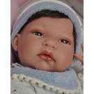 Antonio Juan Realistické bábätko Tonet baberito, 33cm chlapček s vláskami