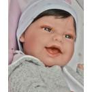 Antonio Juan Realistické bábätko Baby Clar Estrella, 33cm chlapček s vláskami