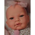 Marina & Pau Realistické bábätko dievčatko, 45cm s hviezdičkami