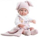Paola Reina Realistické bábätko Mini Pikolin, 32cm dievčatko zajačik