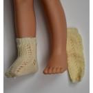 Paola Reina Las Amigas Ponožky pletené béžové, 32cm