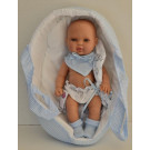 Berjuan Baby Smile bábika chlapček, 30cm v taške