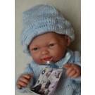 Berenguer Realistické bábätko chlapček, 24cm v modrom