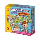 Efko Súbor puzzle 4v1 Môj deň