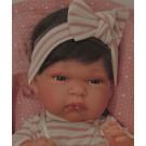 Antonio Juan Realistické bábätko Toneta, 33cm dievčatko s vlasmi