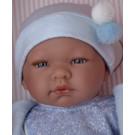 Asivil Realistické bábätko chlapček Pablo, 43cm bambulky