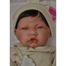 Antonio Juan Látková bábika bábätko Nino, 40cm s vláskami