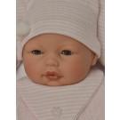 Antonio Juan Zvuková bábika bábätko Bimba Rosa s vankúšom, 37cm žmurkacia