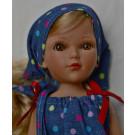 Vidal Rojas Bábika Little Mari blond, 35cm v modrom