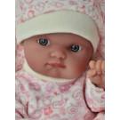 Antonio Juan Realistické bábätko Mufly Arrullo, 21cm ružové srdiečka