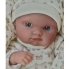 Antonio Juan Realistické bábätko Mufly Arrullo, 21cm krémové vtáčiky