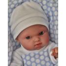 Antonio Juan Realistické bábätko Mufly Arrullo, 21cm chlapček v bodkovanej deke
