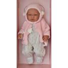 Asivil Realistické bábätko dievčatko María, 43cm plyšová bunda