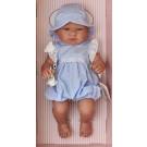 Asivil Realistické bábätko chlapček Pablo, 43cm v bodkovanom