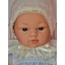 Asivil Látkové bábätko Koke, 36cm v modrom