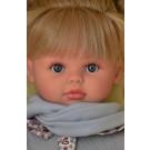 Asivil Látková bábika Pepa, 57cm v sivom blond