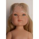 Vestida de Azul Bábika Carlota blond vlasy, 28cm bez oblečenia
