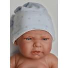 Antonio Juan Realistické bábätko Leo, 42cm chlapček s nočnou čiapočkou