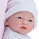 Marina & Pau Realistické bábätko dievčatko, 21cm na vankúši
