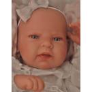Antonio Juan Realistické bábätko Lea, 42cm dievčatko na vankúši