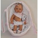 Berjuan Baby Smile bábika dievčatko, 30cm v taške