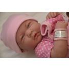 Berenguer Realistické bábätko dievčatko, 36cm v ružovom s dekou