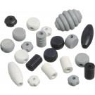 KNORR Drevené korálky rôzne tvary biela, čierna, 20ks