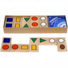 MIK Drevené domino Geometrické tvary, 28ks