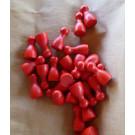 DETOA Náhradné figúrky do spoločenských hier drevené červená