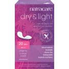 Natracare Bio bavlnené inkontinenčné vložky Dry & Light Slim, 20ks
