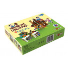 TOPA Drevené obrázkové kocky Perníková chalúpka, 12 kociek