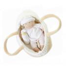 Bonikka Látková bábika bábätko v košíku s prikrývkou, 23cm
