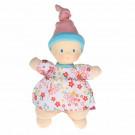 Bonikka Látková mini bábika miláčik ružový kvietok, 15cm