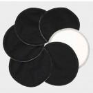 Imse Vimse Vložky do podprsenky bio bavlna, 3 páry čierne