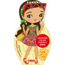 Oblékáme italské panenky Sofia maľovanky a nálepky