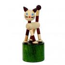 DETOA Drevená mačkacia hračka Mačička Mini