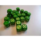 DETOA Drevená kocka hracia lisovaná 16mm zelená, 1ks