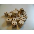 DETOA Drevená kocka hracia lisovaná 16mm prírodná, 1ks