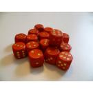 DETOA Drevená kocka hracia lisovaná 16mm červená, 1ks