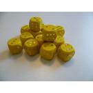 DETOA Drevená kocka hracia lisovaná 16mm žltá