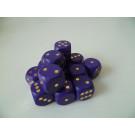 DETOA Drevená kocka hracia lisovaná 16mm fialová, 1ks