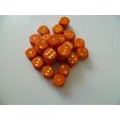 DETOA Drevená kocka hracia lisovaná 16mm oranžová, 1ks